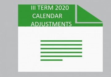 III TERM CALENDAR ADJUSTMENTS